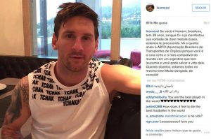 Messi busca donantes de médula en Brasil