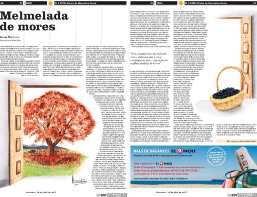 «Melmelada de mores» relat finalista al Premi de Narrativa Curta El 9 Nou